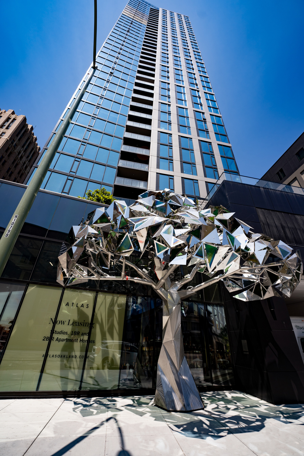 Ever Green sculpture at the Atlas Tower, image courtesy Carmel Partners