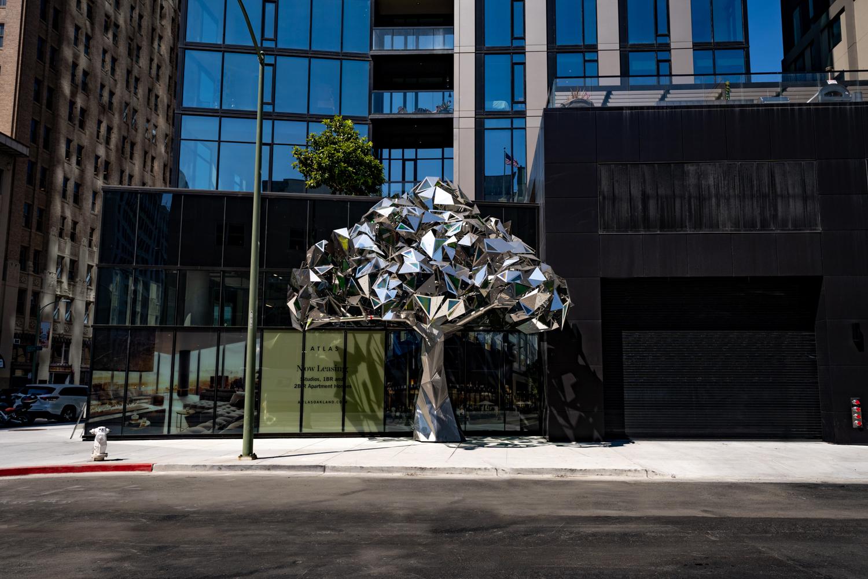 Ever Green sculpture, image courtesy Carmel Partners