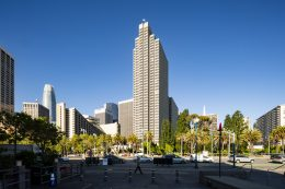 Four Embarcadero Center documented from the western-side of the Ferry Building, image by Andrew Campbell Nelson