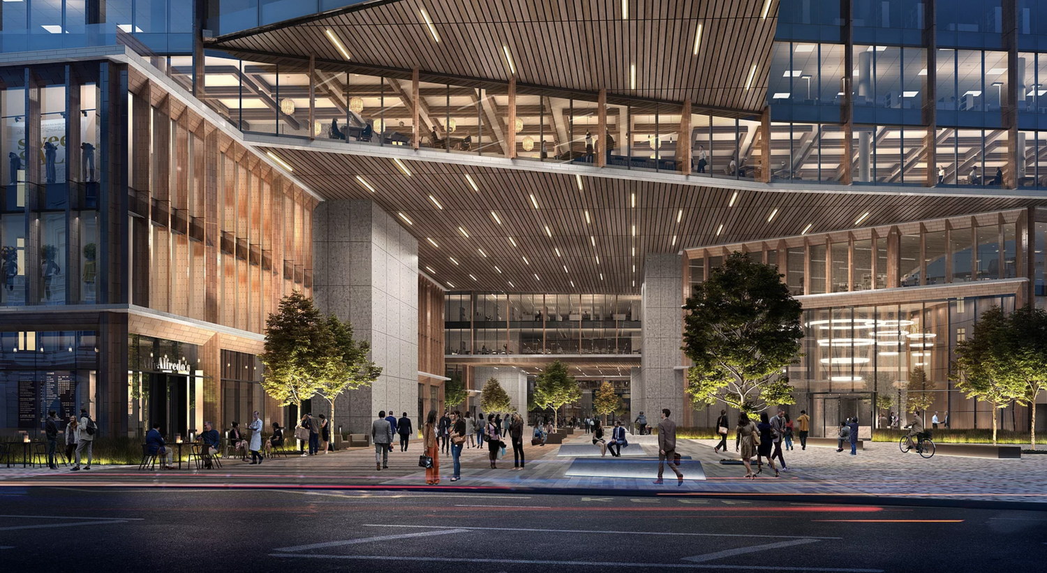 One of the CityView Plaza towers entrance, design by Gensler