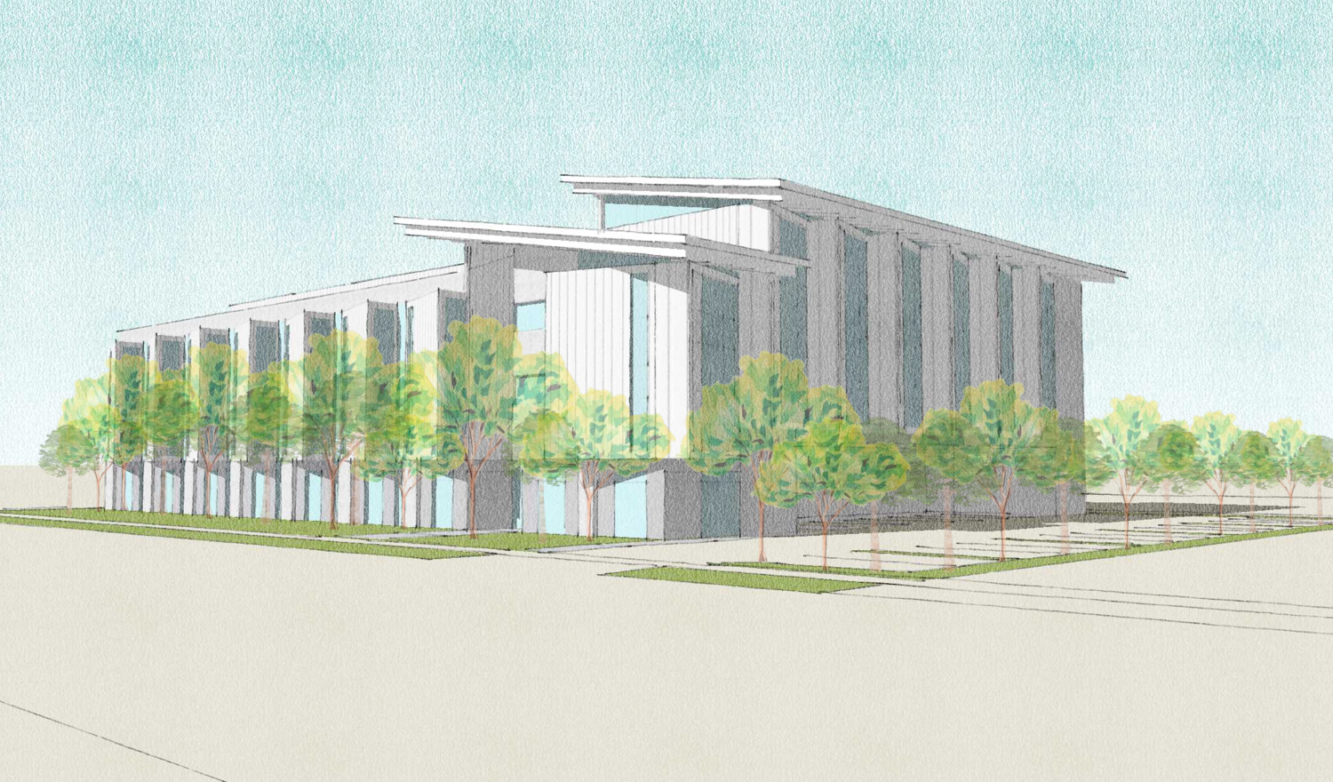 The Mitchell Project at 525 East Charleston Road, rendering by OJK Architecture