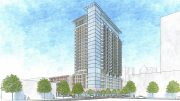 1261 Harrison Street street view from Harrison and 13th Street, rendering by Heller Manus Architects