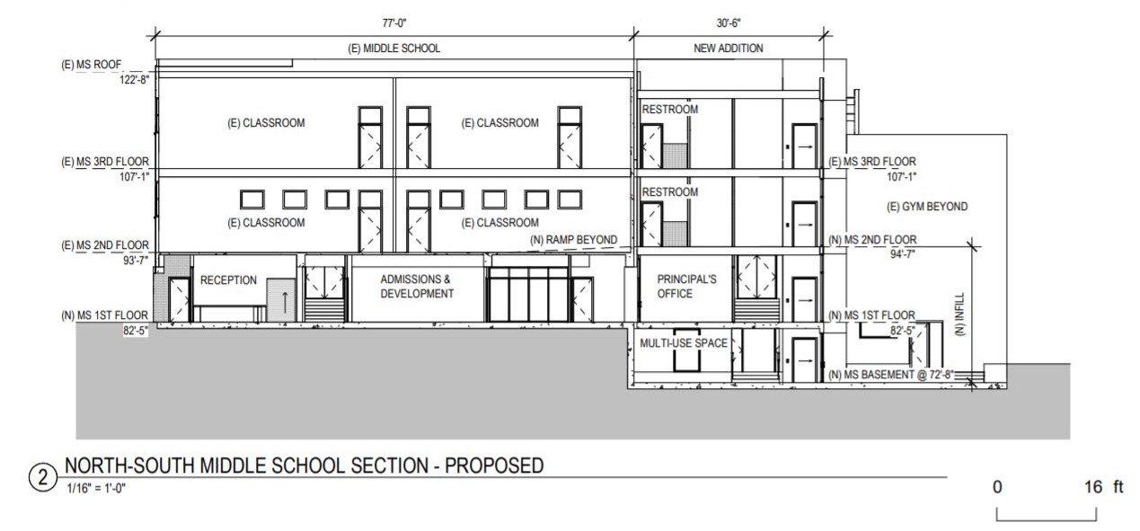 2350 Green Street View Proposed Section