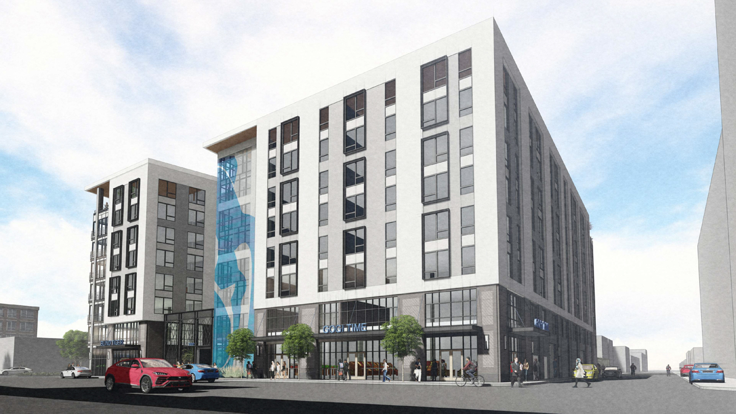 2600 Telegraph Avenue exterior view, rendering by BAR Architects