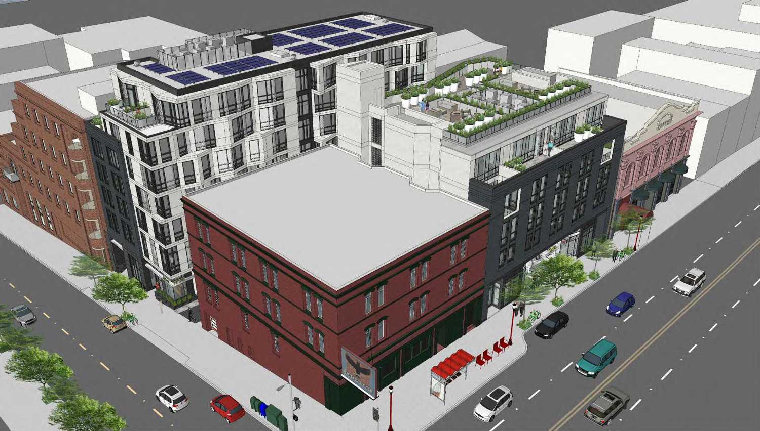 425 Broadway aerial overview, rendering by Ian Birchall & Associates