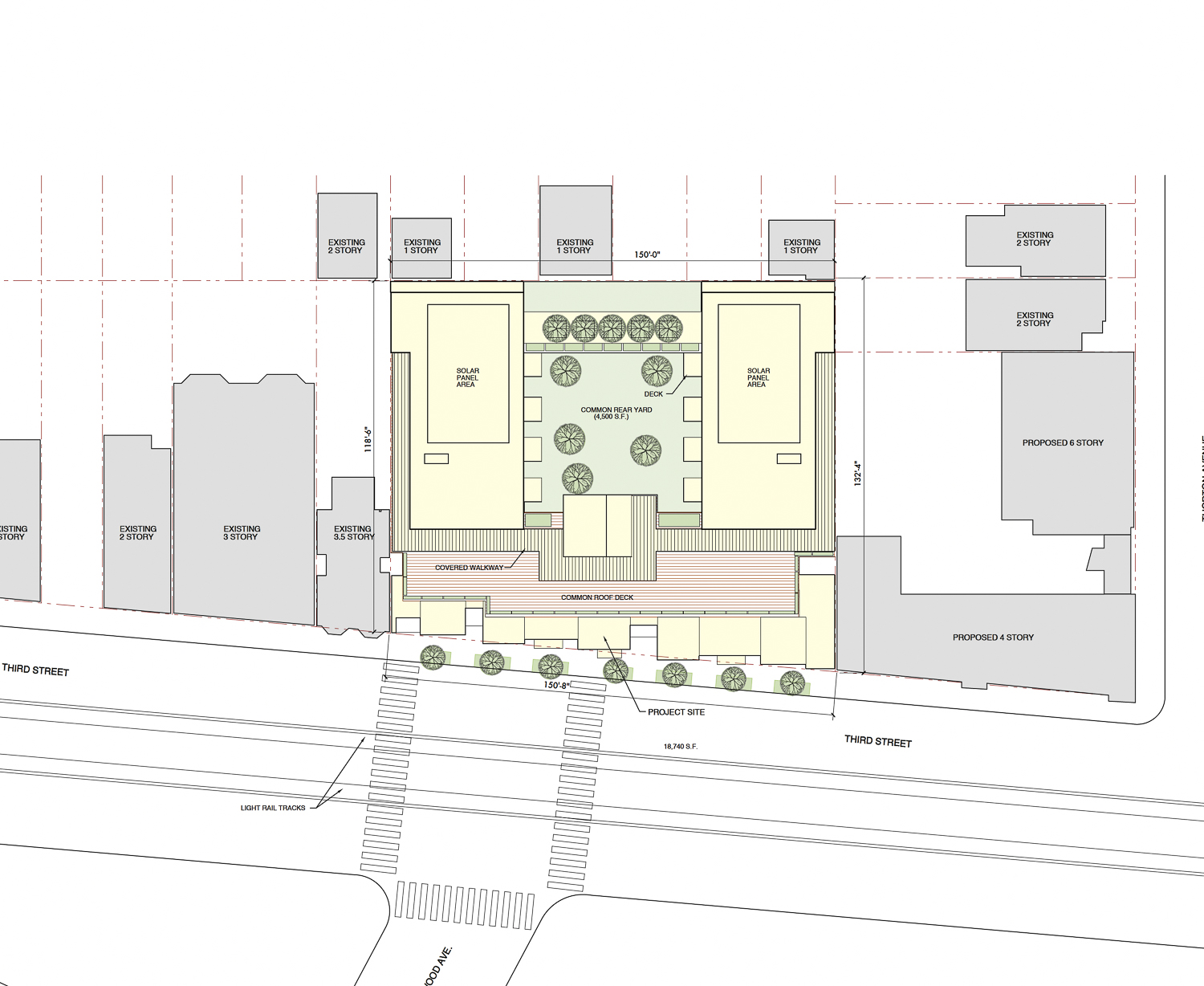 5250 3rd Street site map, rendering by Leavitt Architecture