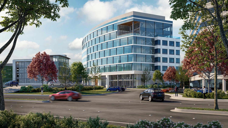 567 Airport Boulevard northwest corner, rendering of design by DES Architects