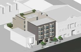 733 Treat Avenue, isometric aerial view of the street-facing facade, rendering by SIA Consulting
