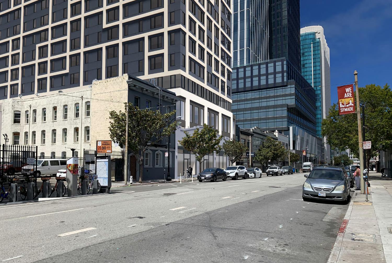 960 Howard Street beside 5M, rendering by oWOW