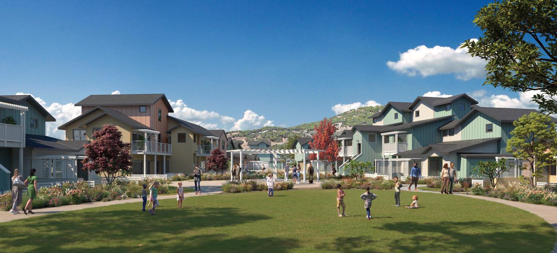 Habitat Redwood Boulevard, rendering of design by Dorman Associates