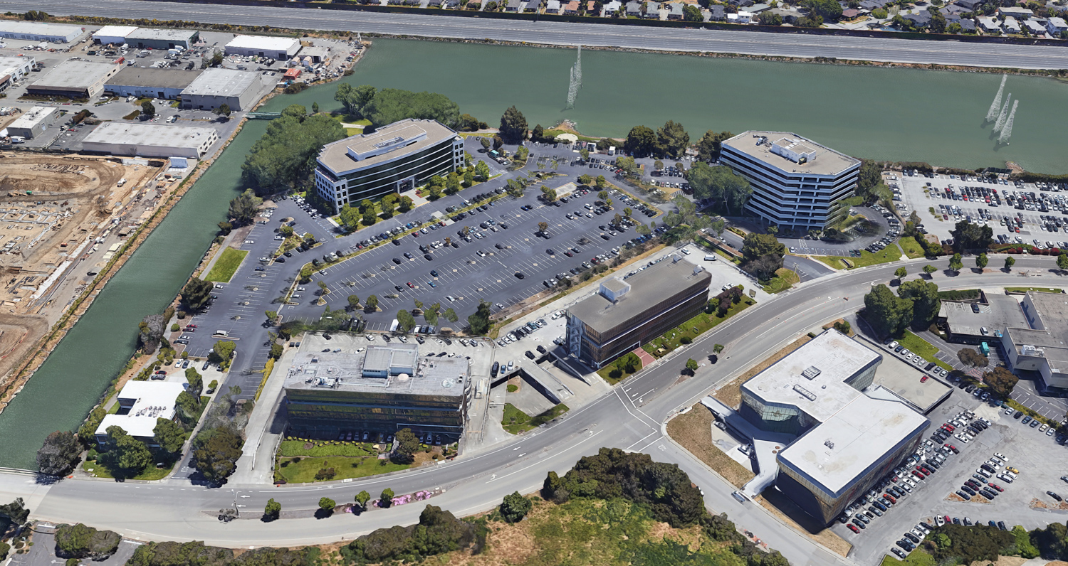 Peninsula Innovation Point existing condition, image by Google Satellite