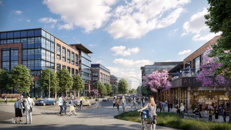 Southline from Huntington-Sneath Intersection, image by DES Architects and Engineers