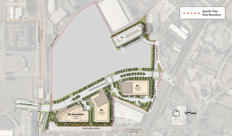 Southline phase one site plan, image via Kimley Horn