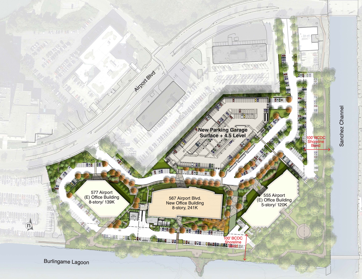 The Peninsula Innovation Point proposed master plan, design by DES Architects