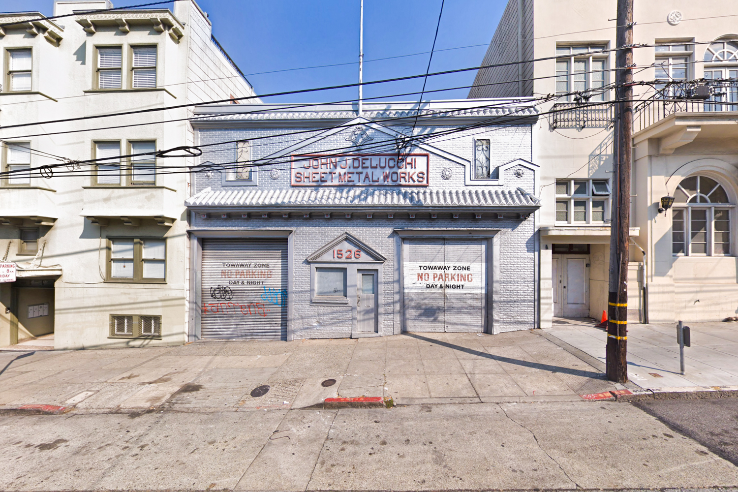 The Sheet Metal Works building at 1526 Powell Street, image via Google Street View