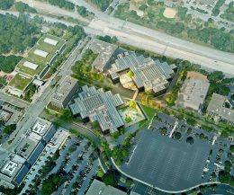 YouTube HQ Expansion aerial view, design by SHoP Architects